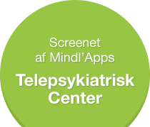 Screenet af Mindl'Apps, Telepsykiatrisk Center